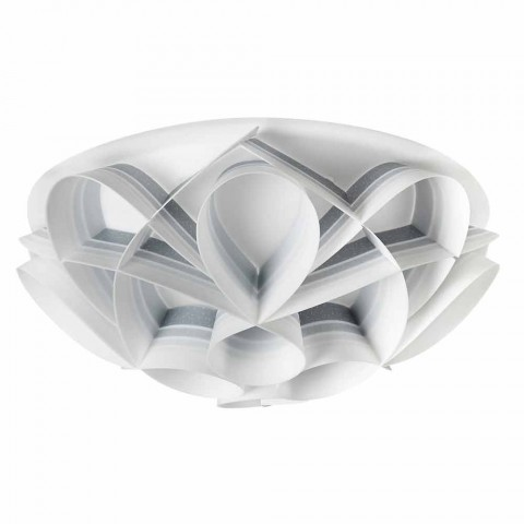 Ceiling lamp 2 lights modern design, diameter 43 cm, Lena, made in Italy