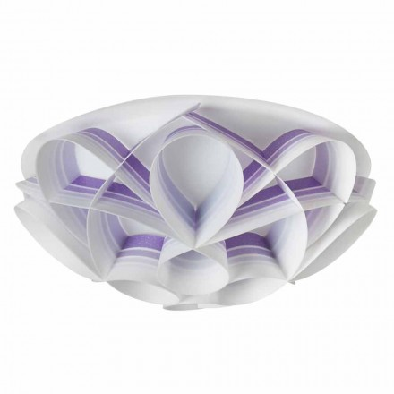 2-light modern ceiling light Lena, made in Italy, 43 cm diam.