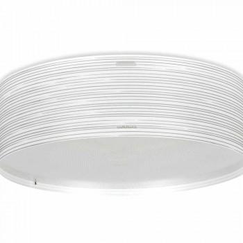 Ceiling lamp 3 lights modern design in polypropylene Debby, diameter 60 cm
