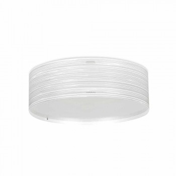 Ceiling lamp 3 lights modern design in polypropylene Debby, diameter 60 cm
