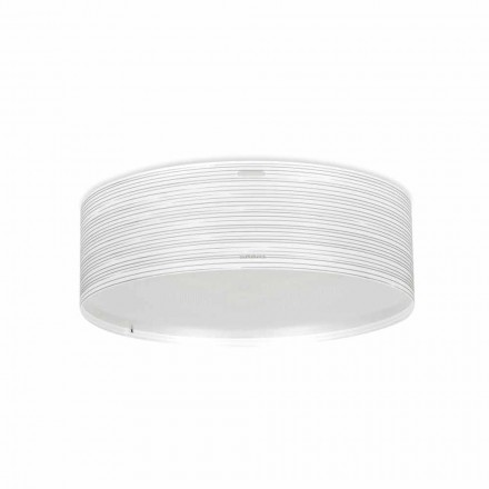 3-light modern ceiling light Debby, made of polypropylene, 60 cm diam.