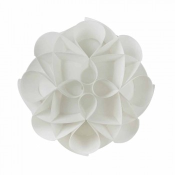 3 lights ceiling lamp made in Italy pearl white, diameter 51 cm, Lena