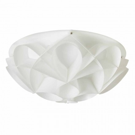 3-light ceiling light Lena, modern design, pearl white, 51 cm diam.