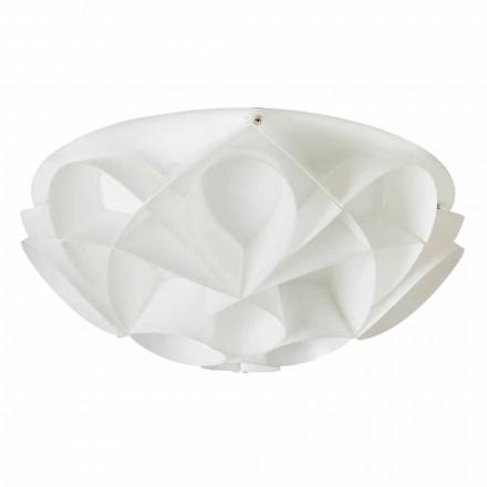 3-light ceiling light Lena, modern design, pearl white, 51 cm diam.