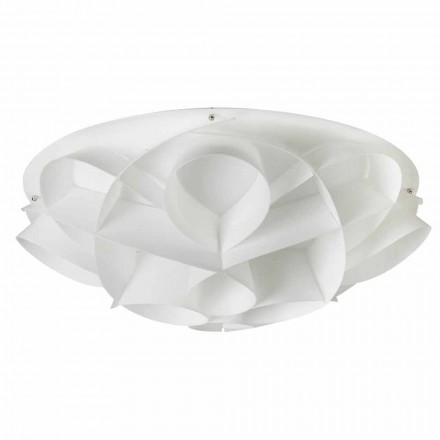 Modern design ceiling lamp Lena, pearl white finish, 70 cm diam.