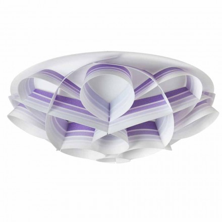Modern design ceiling lamp Lena, made in Italy, 70 cm diam.