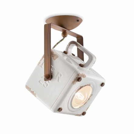 Kaylee vintage adjustable square ceiling spotlight lamp
