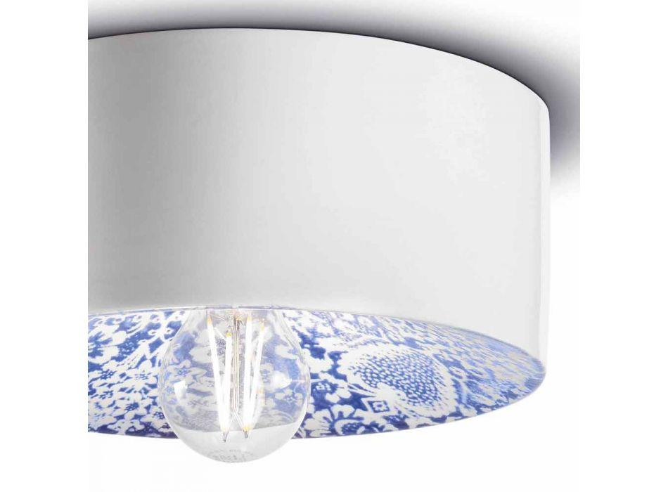 Circular Ceiling Light in Colored Ceramic Made in Italy - Ferroluce Pi
