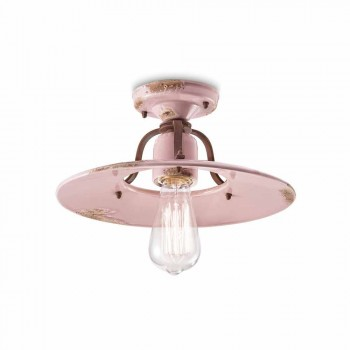 ceiling light country-ceramic and metal crafts Edna