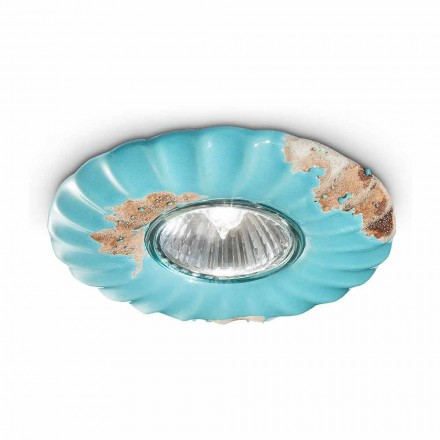 Cindy round ceiling ceramic ceiling light by Ferroluce