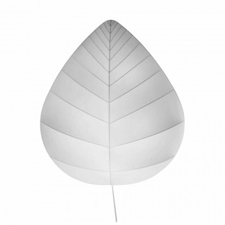 Modern Wall Lamp in Metal and White Lycra Design in 3 Dimensions - Foliage