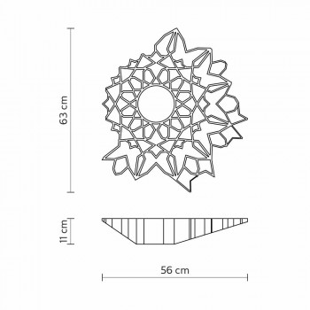Ceiling light Applique in Technopolymer White or Gold Design 2 Sizes - Cathedral