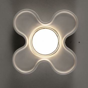 Artisan Ceiling Lamp in Ceramic and Aluminum Made in Italy - Toscot Clover