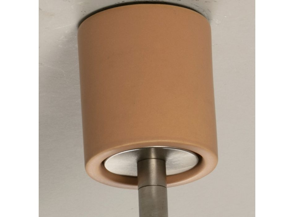 Artisan Ceiling Lamp in Ceramic and Metal Made in Italy - Toscot Match