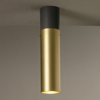 Artisan Ceiling Lamp in Ceramic and Brass Made in Italy - Toscot Match