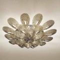 Artisan Ceiling Lamp in Smoked Venetian Glass, Made in Italy - Minos
