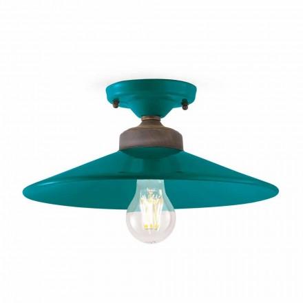 Design ceiling lamp in ceramic and brass Cecilia