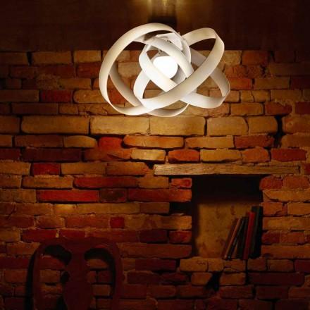 Modern methacrylate ceiling light Ferdi, made in Italy 56 cm diam