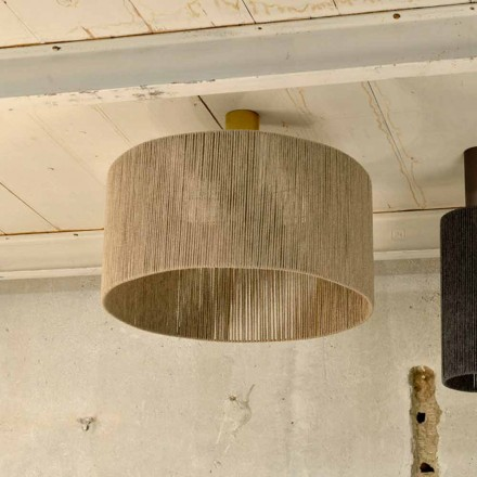 Modern ceiling light with 100% cashmere lamp shade Agape