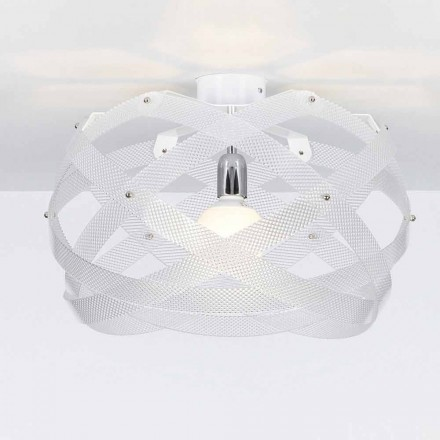 Modern design ceiling light Vanna, spectrall finish, 40 cm diam