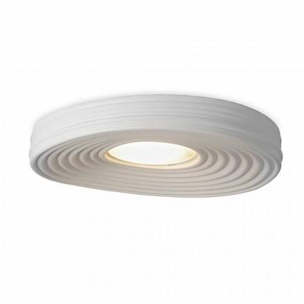 Modern Design Living Room Ceiling Lamp in Matt White Plaster - Licorice