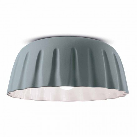 Vintage Design Ceramic Ceiling Light Made in Italy - Ferroluce Madame Grès