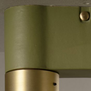 Ceiling Lamp in Ceramic and Brushed Brass Handmade in Italy - Toscot Match