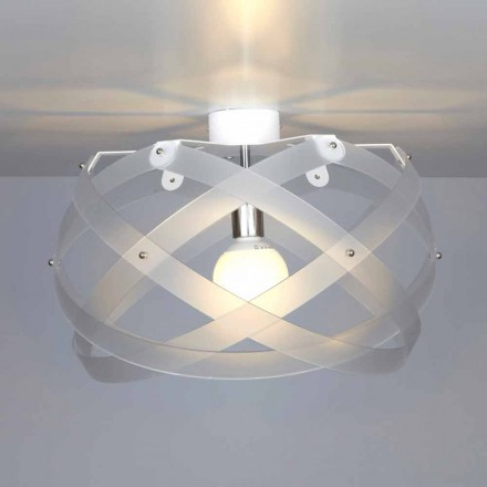 Modern design ceiling lamp Vanna, made of methacrylate, 40 cm diam