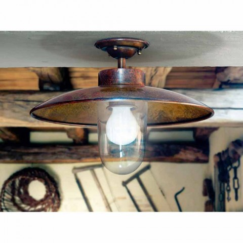 Ceiling lamp in brass, copper and glass Nabucco Aldo Bernardi
