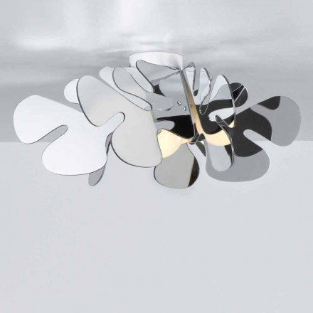 Ceiling lamp Debora, 53x53 cm, made of methacrylate, chromolite finish