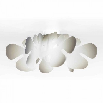 Modern ceiling lamp in methacrylate decoration nuance, L.53xP.53 cm, Debora