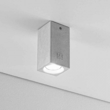 Designer square shape ceiling light Nadir 5 by Aldo Bernardi