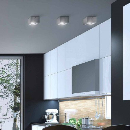 Modern square shape ceiling light Nadir by Aldo Bernardi