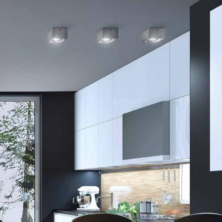 Modern square shape ceiling light Nadir by Aldo Bernardi
