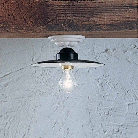 Round ceiling light made of ceramic Potenza by Ferroluce