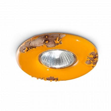 Vintage round ceramic ceiling lamp Paula by Ferroluce