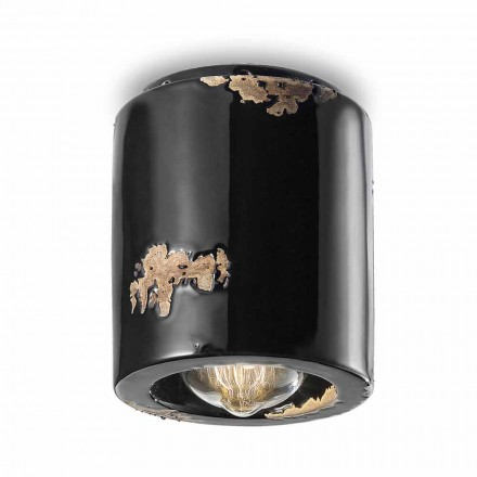 Laurie vintage ceramic ceiling spotlight lamp by Ferroluce