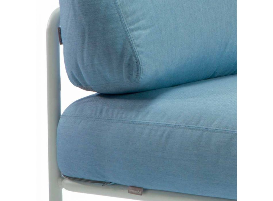 Central Modular Armchair for Outdoor in Metal and Fabric Made in Italy - Cola