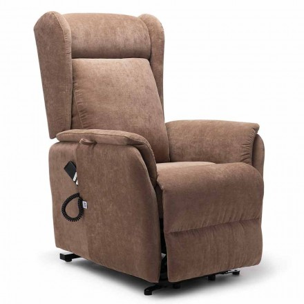High Quality Armchair with Person Lift System with 2 Motors and Wheels - Juliette