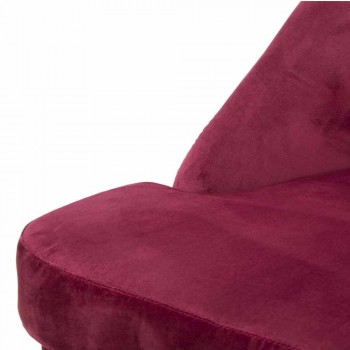 Bordeaux Modern Design Armchair in Wood and Fabric - Josie