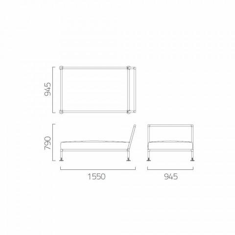 Chaise Longue Armchair of Modern Design for Garden Made in Italy - Ontario1