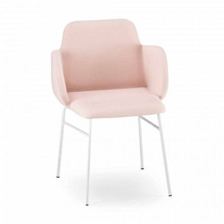 High Quality Colored Armchair in Fabric and Metal Made in Italy - Molde