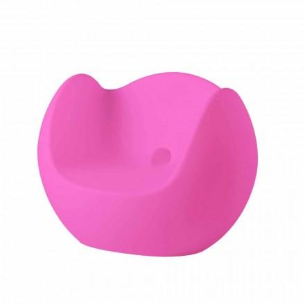 Modern design bright rocking armchair Slide Blos, made in Italy
