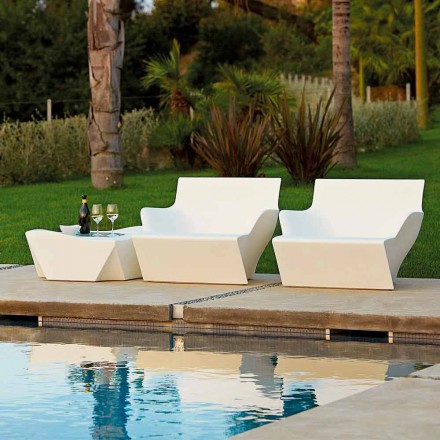 Outdoor/indoor armchair with armrests Slide Kami San, made in Italy