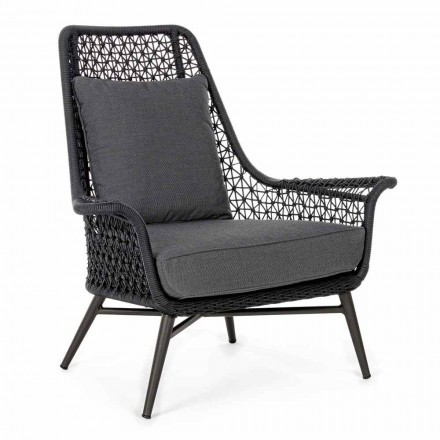 Modern Design Outdoor Armchair in Aluminum and Homemotion Fabric - Nigerio