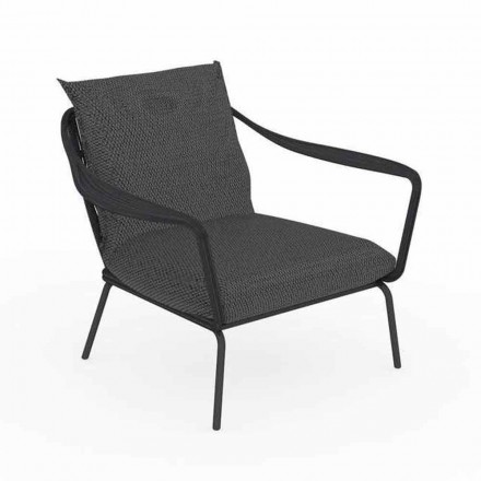 Modern Design Outdoor Armchair in Aluminum and Fabric - Cruise Alu Talenti