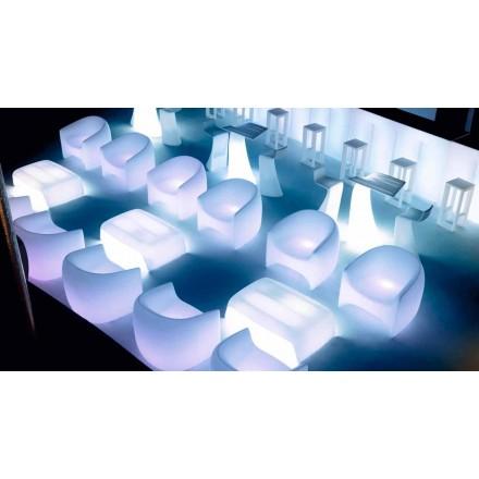 Modern design outdoor armchair, in polyethylene resin Blow by Vondom