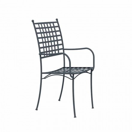 Outdoor Stackable Metal Armchair Made in Italy, 4 Pieces - Pira