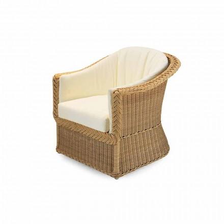 Garden armchair Naomi, woven polyethylene