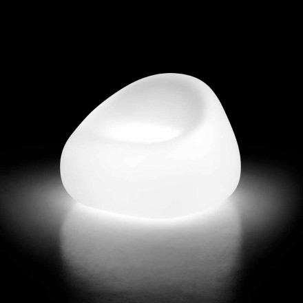 Outdoor Armchair with LED Light in Polyethylene Made in Italy - Ervin